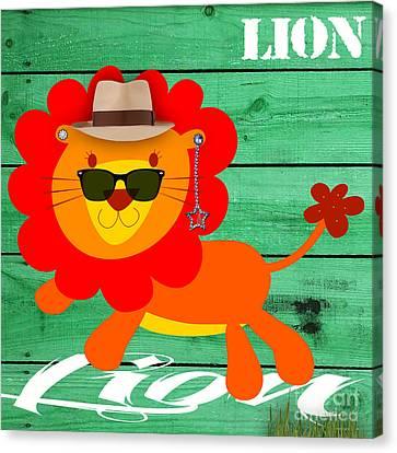 Friendly Lion Collection Canvas Print