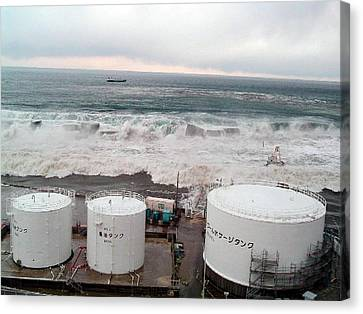 Flooding Canvas Print - Fukushima Nuclear Disaster by Public Health England