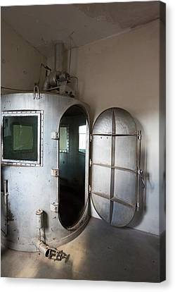 Punishment Canvas Print - Gas Chamber At Wyoming Frontier Prison by Jim West