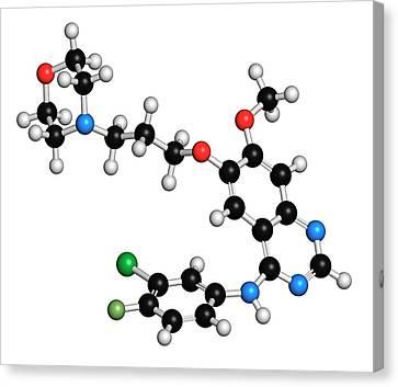 Gefinitib Cancer Drug Molecule Canvas Print