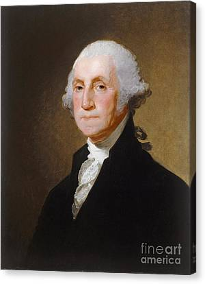 Shirt Canvas Print - George Washington by Gilbert Stuart