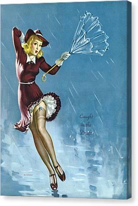 Gil Elvgren's Pin-up Girl Canvas Print