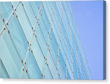 Glass Wall Canvas Print - Glass Building by Tom Gowanlock