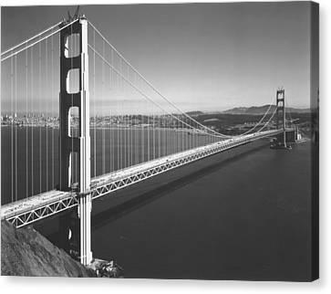 Built Canvas Print - Golden Gate Bridge by Underwood Archives