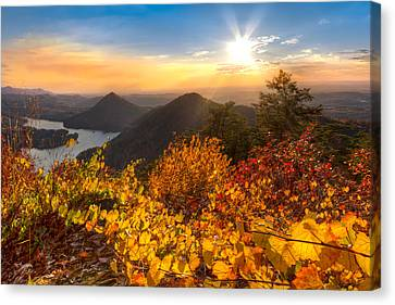 Benton Canvas Print - Golden Hour by Debra and Dave Vanderlaan