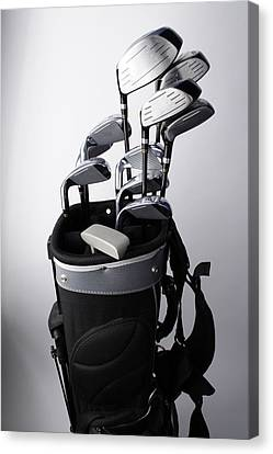Iron Canvas Print - Golf Clubs by Gary Marx