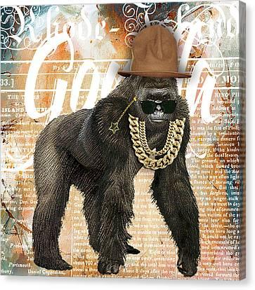 Gorilla Canvas Print - Gorilla Collection by Marvin Blaine