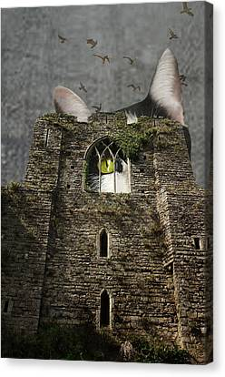 Gothic Kitty Canvas Print