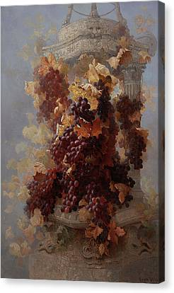 Grape Vines Canvas Print - Grapes And Architecture by Edwin Deakin