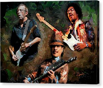 3 Great Artists Canvas Print