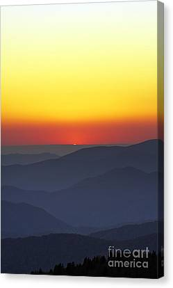 Mountian Canvas Print - Great Smokie Mountains National Park Sunset by Dustin K Ryan