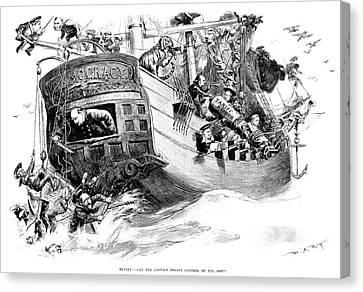 Reform Canvas Print - Grover Cleveland Cartoon by Granger