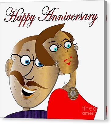 Happy Anniversary Canvas Print by Iris Gelbart