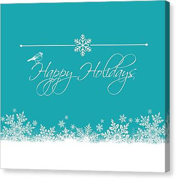 Happy Holidays Canvas Print by Cathie Tyler