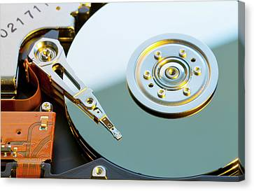 Hard Disc Drive Canvas Print by Wladimir Bulgar