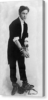 Harry Houdini, Hungarian-american Canvas Print by Photo Researchers