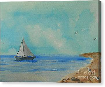 He Leads Me Beside The Still Waters Canvas Print by Barbara McNeil