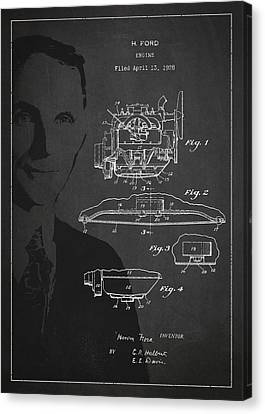 Henry Ford Engine Patent Drawing From 1928 Canvas Print by Aged Pixel