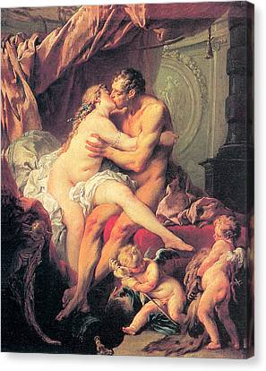 Hercules And Omphale Canvas Print by Francois Boucher