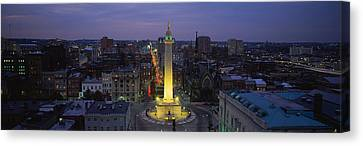High Angle View Of A Monument Canvas Print