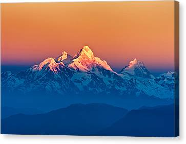 Himalayan Mountains View From Mt. Shivapuri Canvas Print