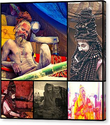 Book Cover Canvas Print - Hindu Saint by Girish J
