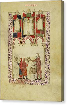 Hispano-moresque Haggadah Canvas Print by British Library