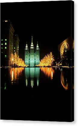 Historic Temple And Square In Salt Lake Canvas Print