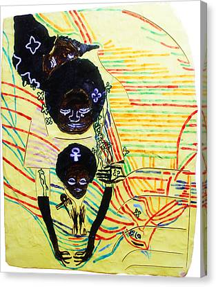 Africa Ceramics Canvas Print - Holy Family by Gloria Ssali