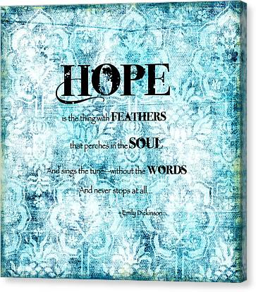 Hope Canvas Print by Bonnie Bruno