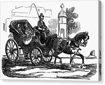 Horse Carriage, 1853 Canvas Print