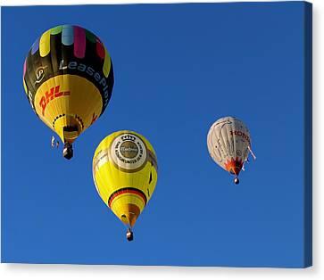 3 Hot Air Balloon Canvas Print by John Swartz