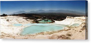 Hot Springs And Travertine Pool Canvas Print