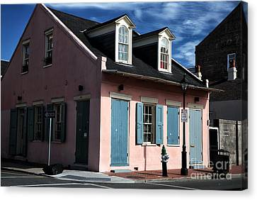 House On The Corner Canvas Print by John Rizzuto