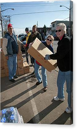 Hurricane Sandy Disaster Relief Canvas Print by Jim West