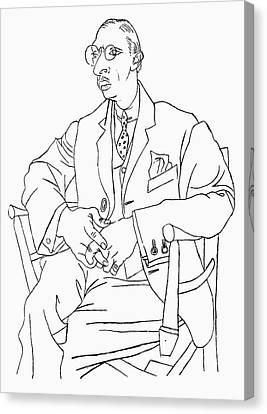 Igor Stravinsky (1882-1971) Canvas Print