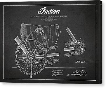 Indian Motorcycle Patent From 1902 Canvas Print