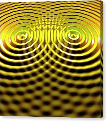 Interference Patterns Canvas Print by Russell Kightley