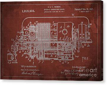 Internal Combustion Engine Patent - 1917 Canvas Print by Pablo Franchi