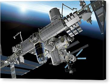 International Space Station Canvas Print by Carlos Clarivan