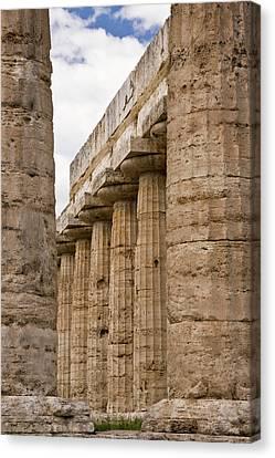 Italy, Campania, Paestum Canvas Print by Jaynes Gallery