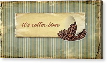 Its Coffee Time Canvas Print by Heike Hultsch