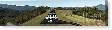Jackson County Airport In Cullowhee Nc Canvas Print