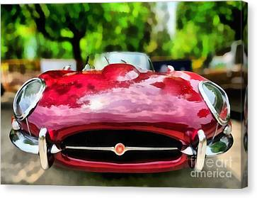 1967 Jaguar E Type Canvas Print by George Atsametakis