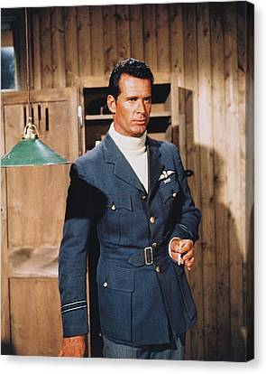 James Garner In The Great Escape Canvas Print by Silver Screen
