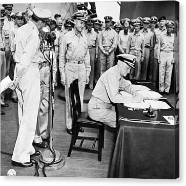 Japanese Surrender Ceremony Canvas Print
