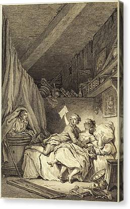 Jean Dambrun After Jean-honoré Fragonard French Canvas Print by Quint Lox