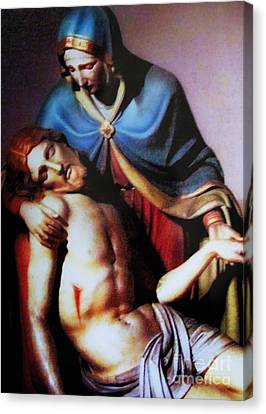 Jesus And Mary Canvas Print by W  Scott Fenton