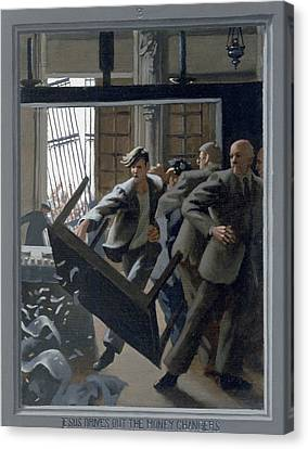 3. Jesus Drives Out The Money Changers / From The Passion Of Christ - A Gay Vision Canvas Print by Douglas Blanchard