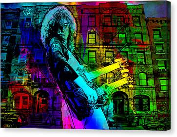 Jimmy Page Canvas Print by Dancin Artworks